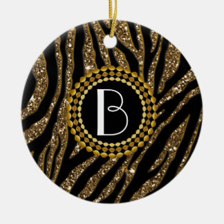 ZEBRA14.jpg Ceramic Ornament