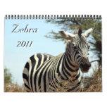 zebra 2011 calendar