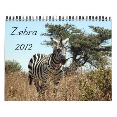 zebra 2012 calendar