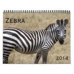 zebra 2014 wall calendar