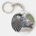 zebra-29 basic round button keychain