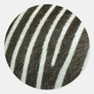 Zebra 2 classic round sticker
