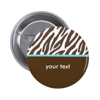 Zebra 2 Inch Round Button