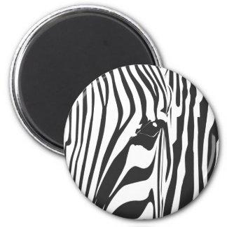 Zebra! 2 Inch Round Magnet