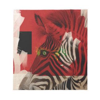Zebra 4.0 Abstract Contemporary Art Notepad
