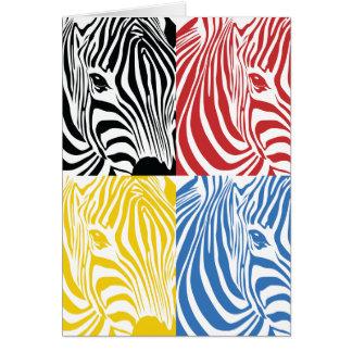 Zebra 4-Colored Greetings Card