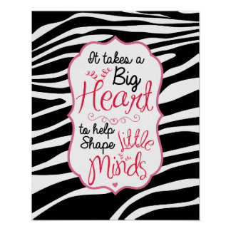 Zebra ABC s Poster