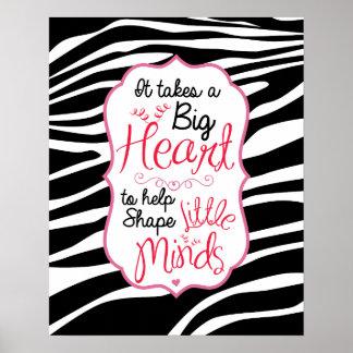 Zebra ABC's Poster