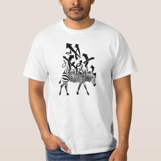 Zebra Abstract Design T-Shirt