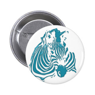 Zebra Abstract Print Green Blue White Pins