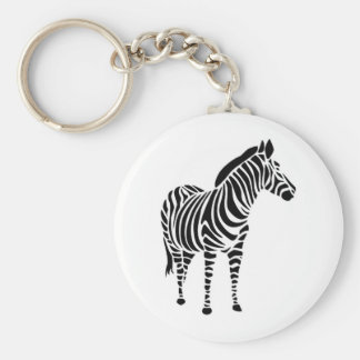 Zebra abstractly colored animals animals love keychain