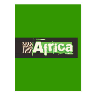 Zebra Africa postcards