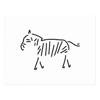 zebra Africa zebrasteifen Postcard