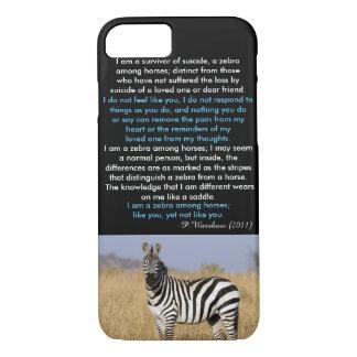 Zebra Among Horse iPhone 7 Case