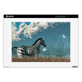 Zebra and Approaching Storm Decal For Laptop