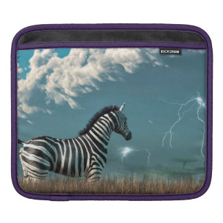 Zebra and Approaching Storm Sleeves For iPads