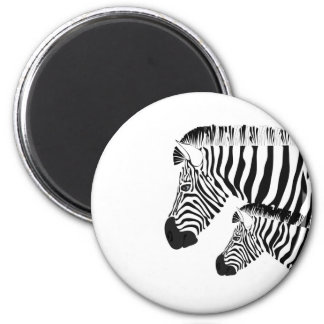 Zebra and baby magnet