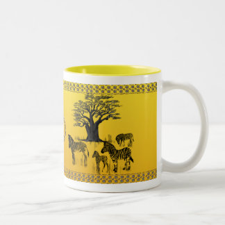 Zebra and Baobab Tree Mug