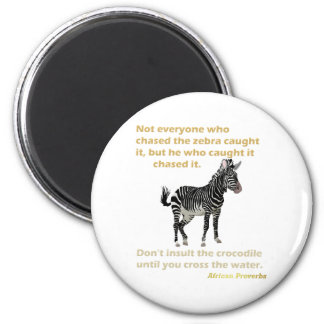 Zebra and Crocodile Series 2 Inch Round Magnet