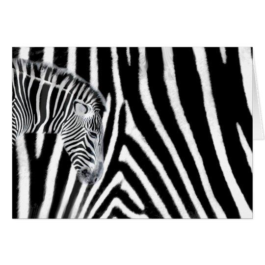 Zebra and it's stripe card