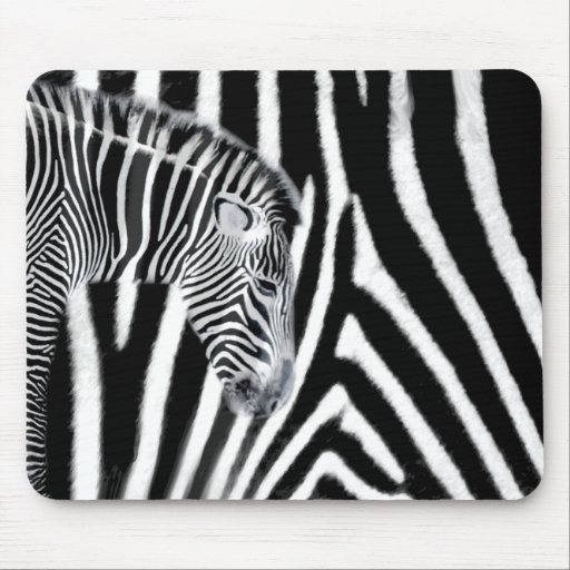 Zebra and it's stripe mouse pad