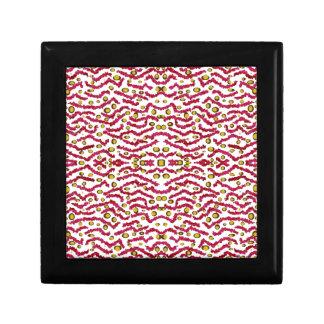 Zebra and Leopard Kaleidoscope Pattern Trinket Boxes