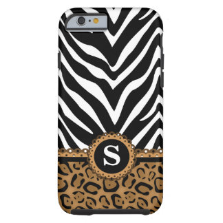 Zebra and Leopard Monogram iPhone 6 Case