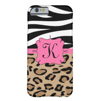 Zebra and Leopard Personalized Monogram iPhone 6 Case