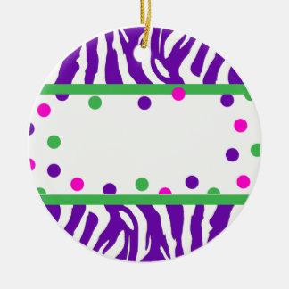 Zebra and Polka Dot Oranment Christmas Ornaments