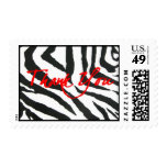 Zebra and Red Thank you Stamps