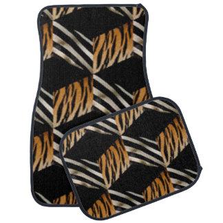 Zebra And Tiger Print Car Mats Floor Mat