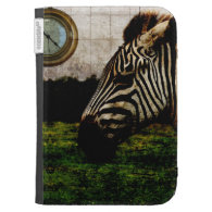 zebra and watch surreal kindle case