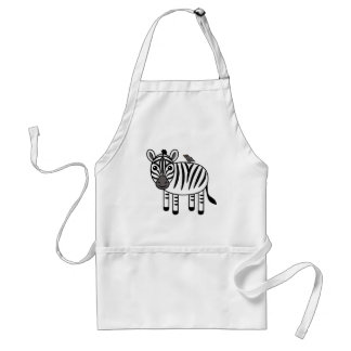 Zebra And Yellow-billed Oxpecker Aprons