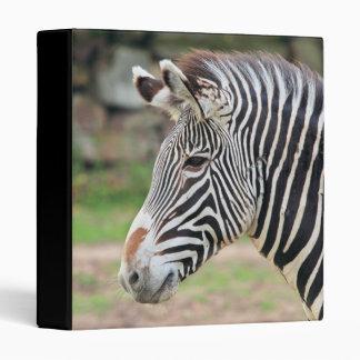Zebra animal binder