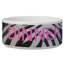 Zebra Animal Print Dog Bowl