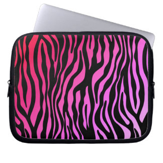 Zebra Animal Print laptop sleeve pink red