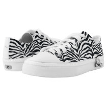 Zebra Animal Print Pattern Lace Up Sneakers