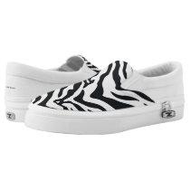 Zebra Animal Print Pattern Slip-On Sneakers