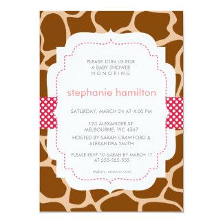 Zebra Animal Print Polka Dot Ribbon Baby Girl Cards