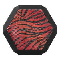 Zebra Animal Print Red & Black Black Bluetooth Speaker