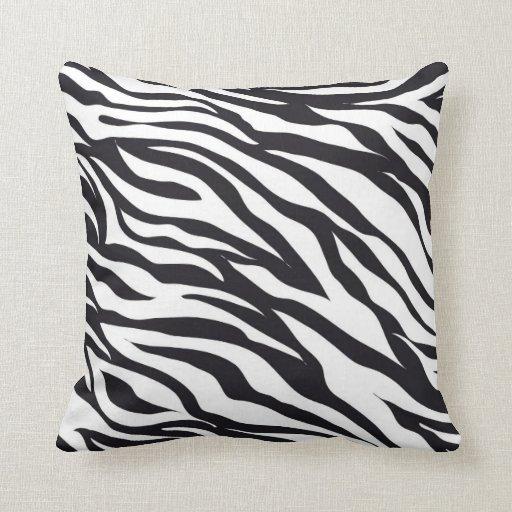 Zebra Print Decorative Pillow : Zebra Animal Print throw pillow Zazzle