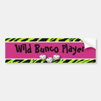 Zebra Animal Print WIld Bunco Player Bumper Stickers
