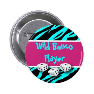 Zebra Animal Print WIld Bunco Player Button