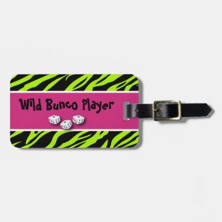 Zebra Animal Print WIld Bunco Player Luggage Tags