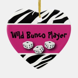 Zebra Animal Print WIld Bunco Player Christmas Tree Ornaments
