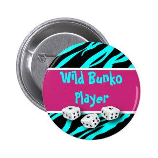 Zebra Animal Print Wild Bunko Player Pinback Button