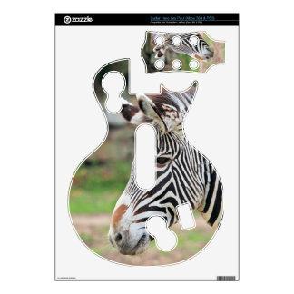 Zebra animal decals for guitar hero