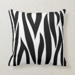 Zebra animal stripes pattern throw pillows