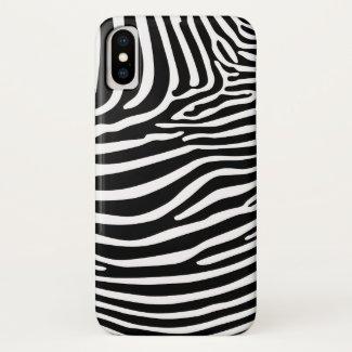 Zebra Animalprint... iPhone X Case