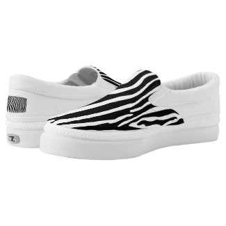 Zebra Animalprint Slip-On Sneakers
